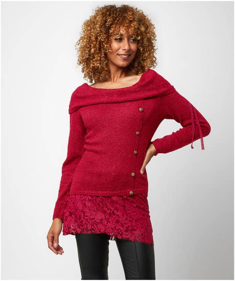 Lovely Lace Detail Knit