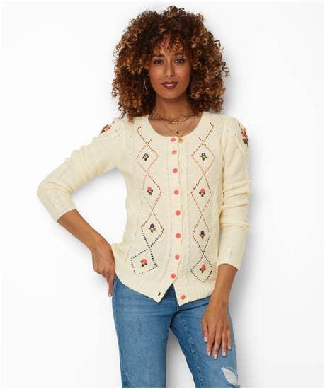 Vintage Sweaters & Cardigans: 1940s, 1950s, 1960s Vintage Valerie Cardigan $63.00 AT vintagedancer.com