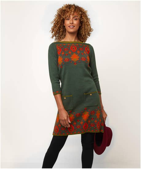 Fanciful Forest Knitted Tunic