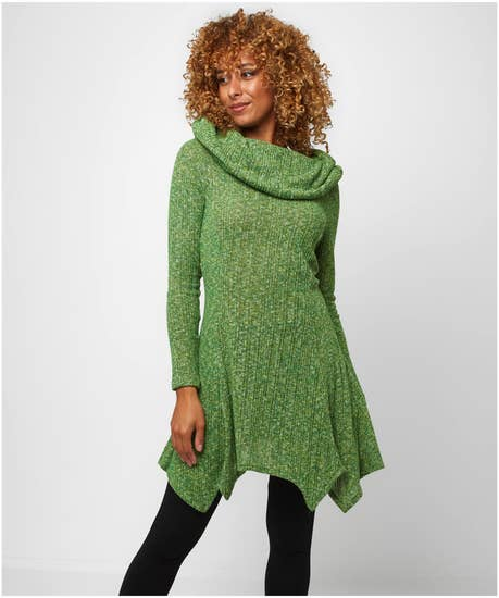 Best Ever Shawl Collar Knitted Tunic