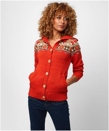 Fun Fox Knit Cardigan