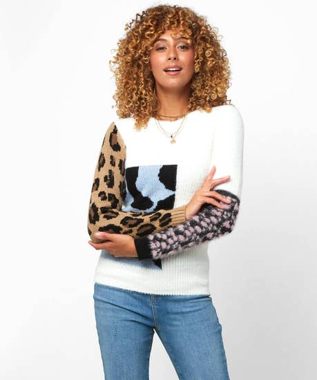 In the Mix Animal Sweater