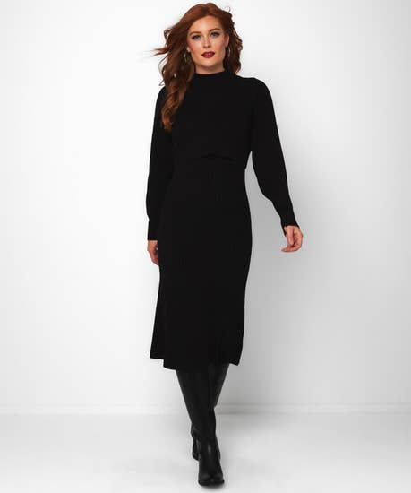 Two Layer Sweater Dress