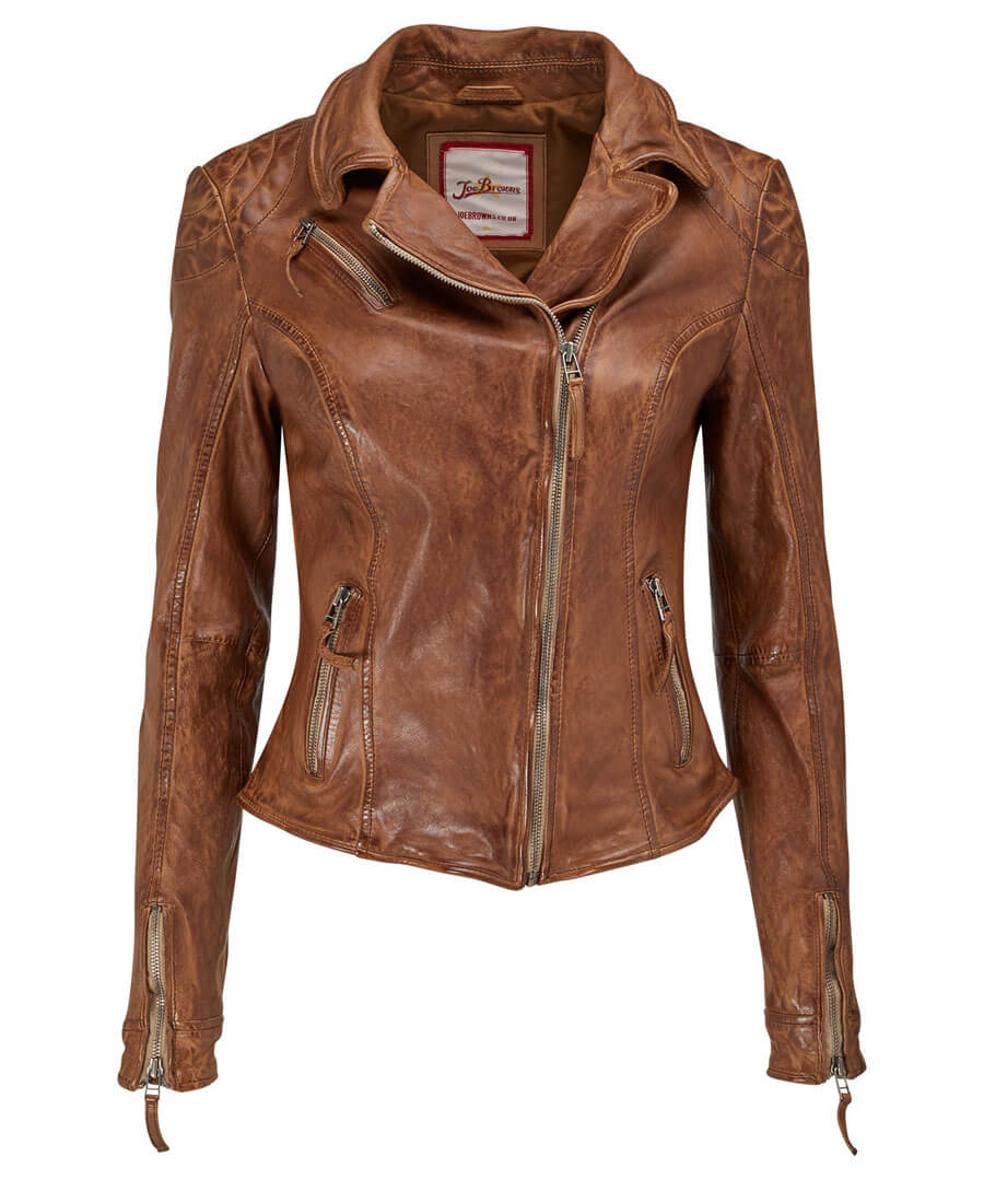Joes Signature Leather Jacket Model Front