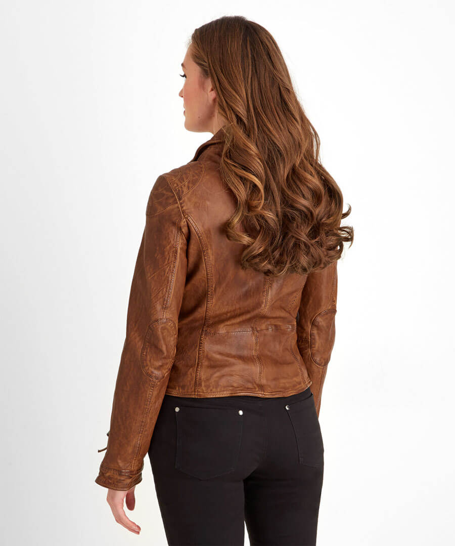 Joes Signature Leather Jacket Model Back