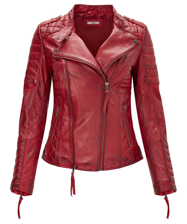 Candid Quilted Leather Jacket