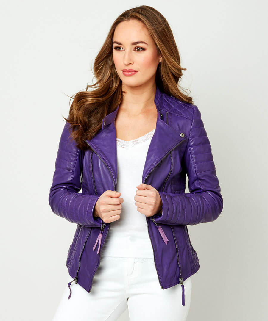 All New Leather Jacket Model Front