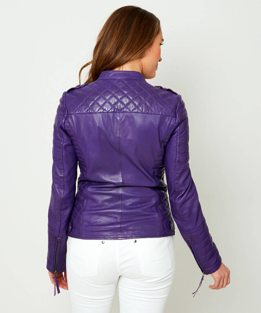 All New Leather Jacket Model Back