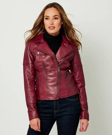 Textured Leather Jacket
