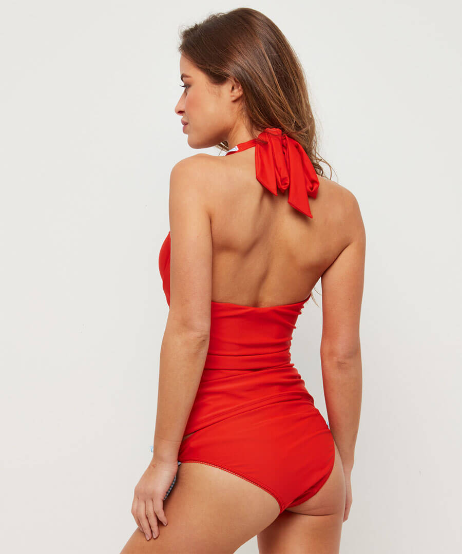 Mix And Match Tie Side Bottoms Model Back