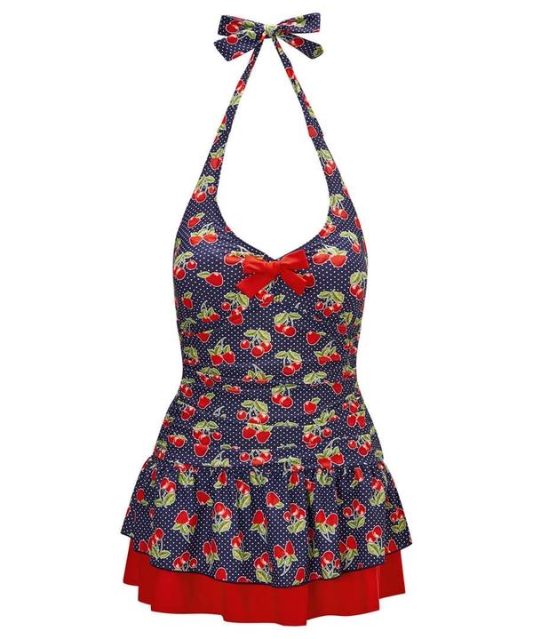 Curiously Cherry Swim Dress