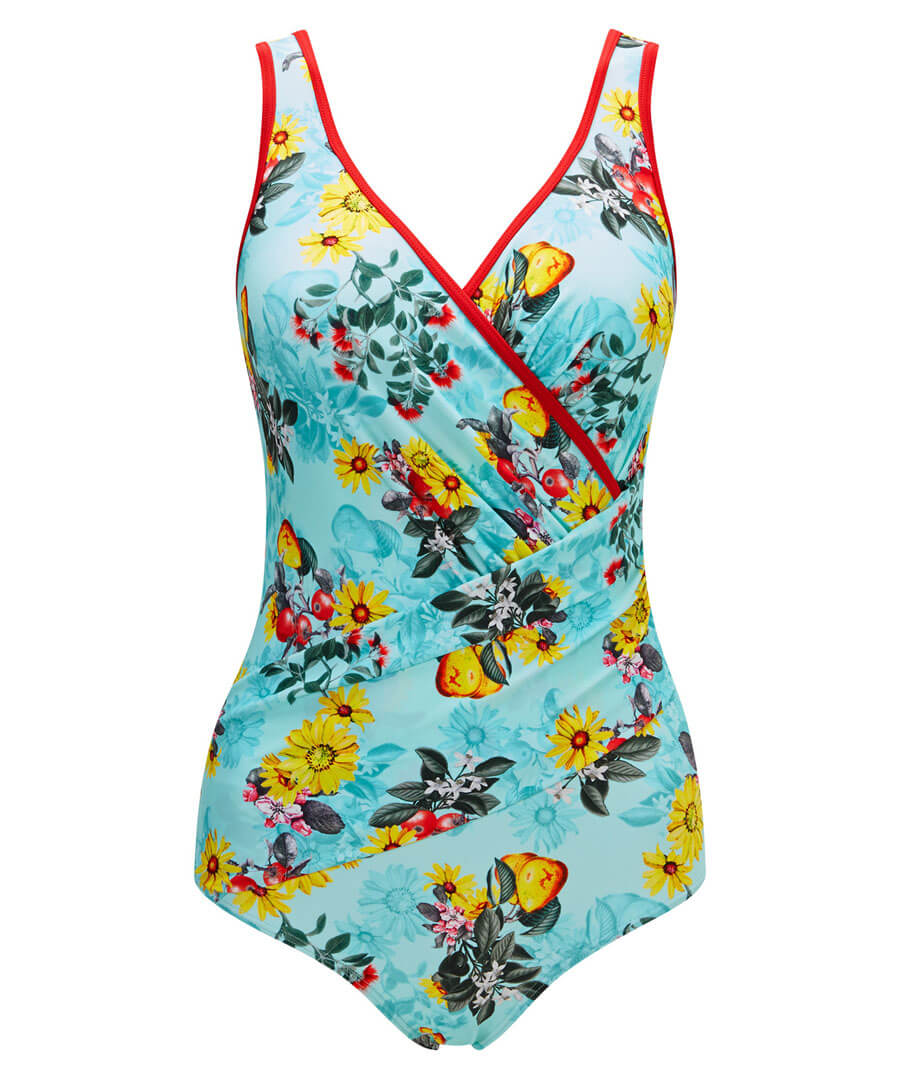 Sweet Pear Tree Control Swimsuit Model Front