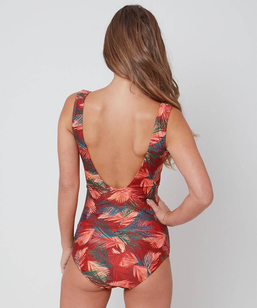 Palm Wrap Swimsuit Model Back