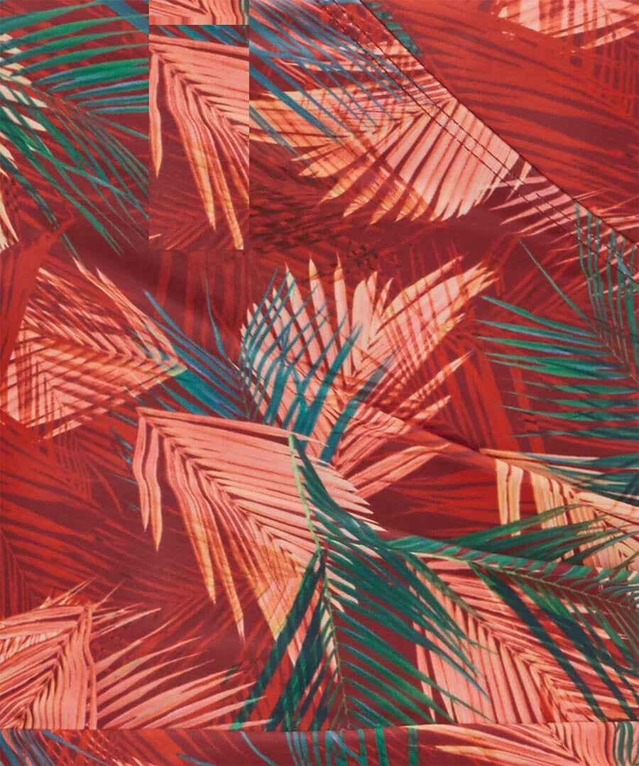 Palm Wrap Swimsuit Back