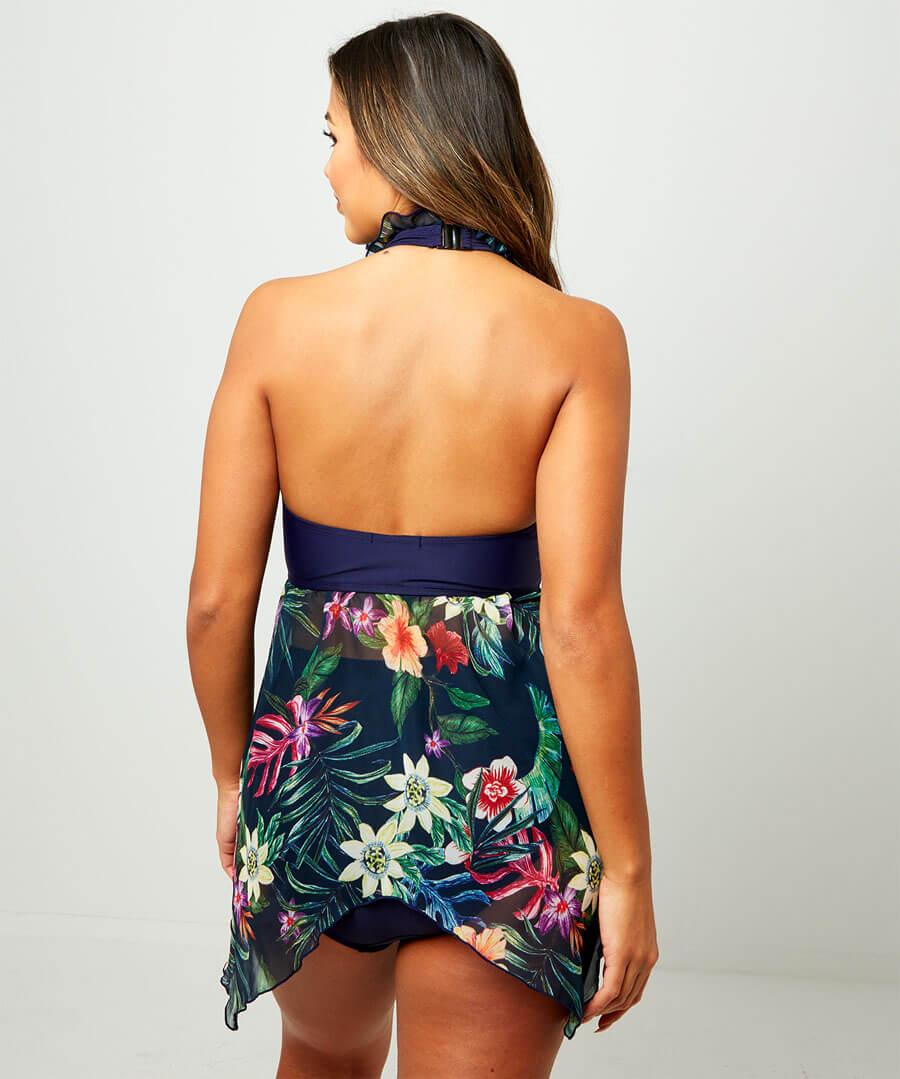 Chic Chiffon Tankini Set Model Back