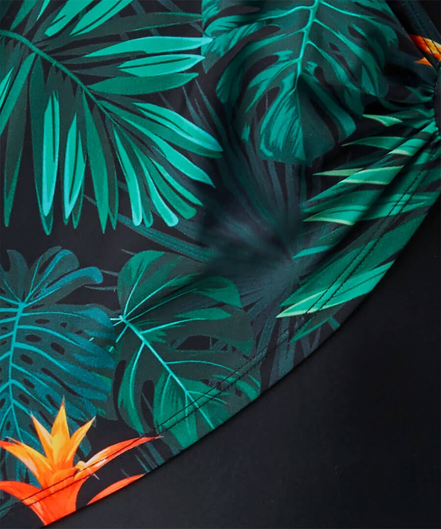 Palm Life Crossover Swimsuit Back