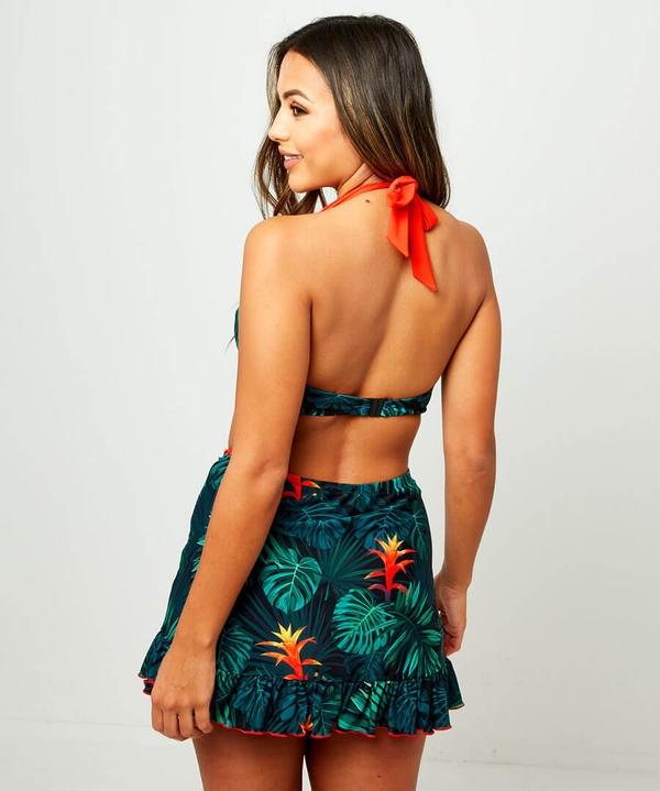 Vintage Palm Skirted Bikini