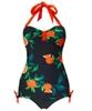 Sweet Orange Vintage Swimsuit