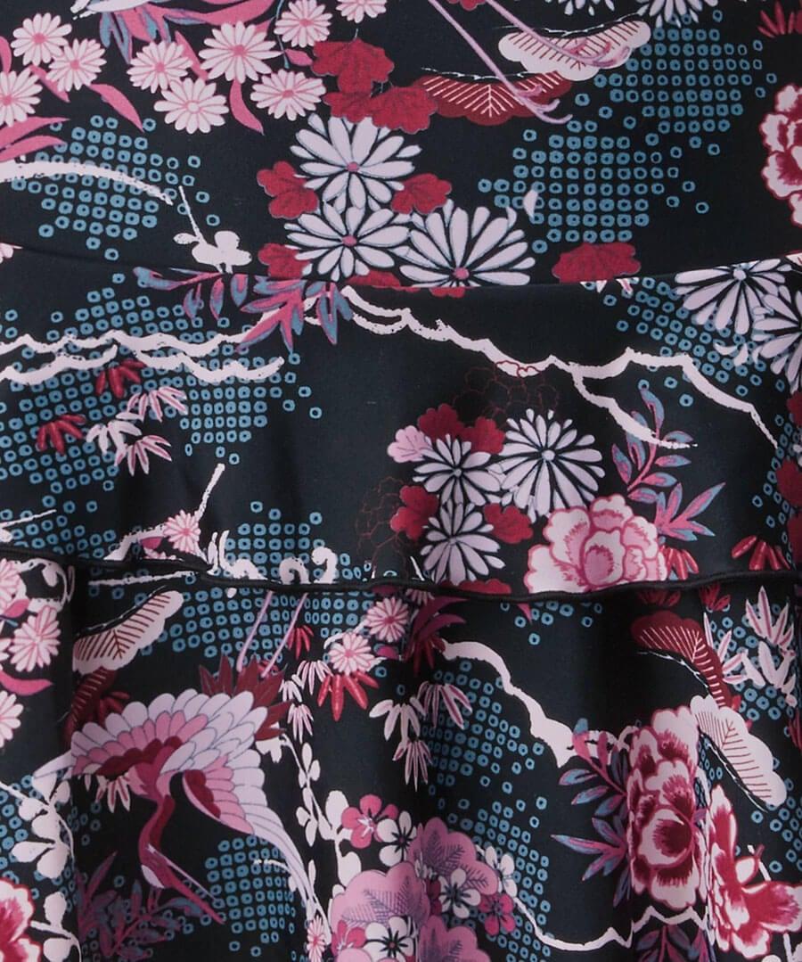 Oriental Printed Swimdress Back