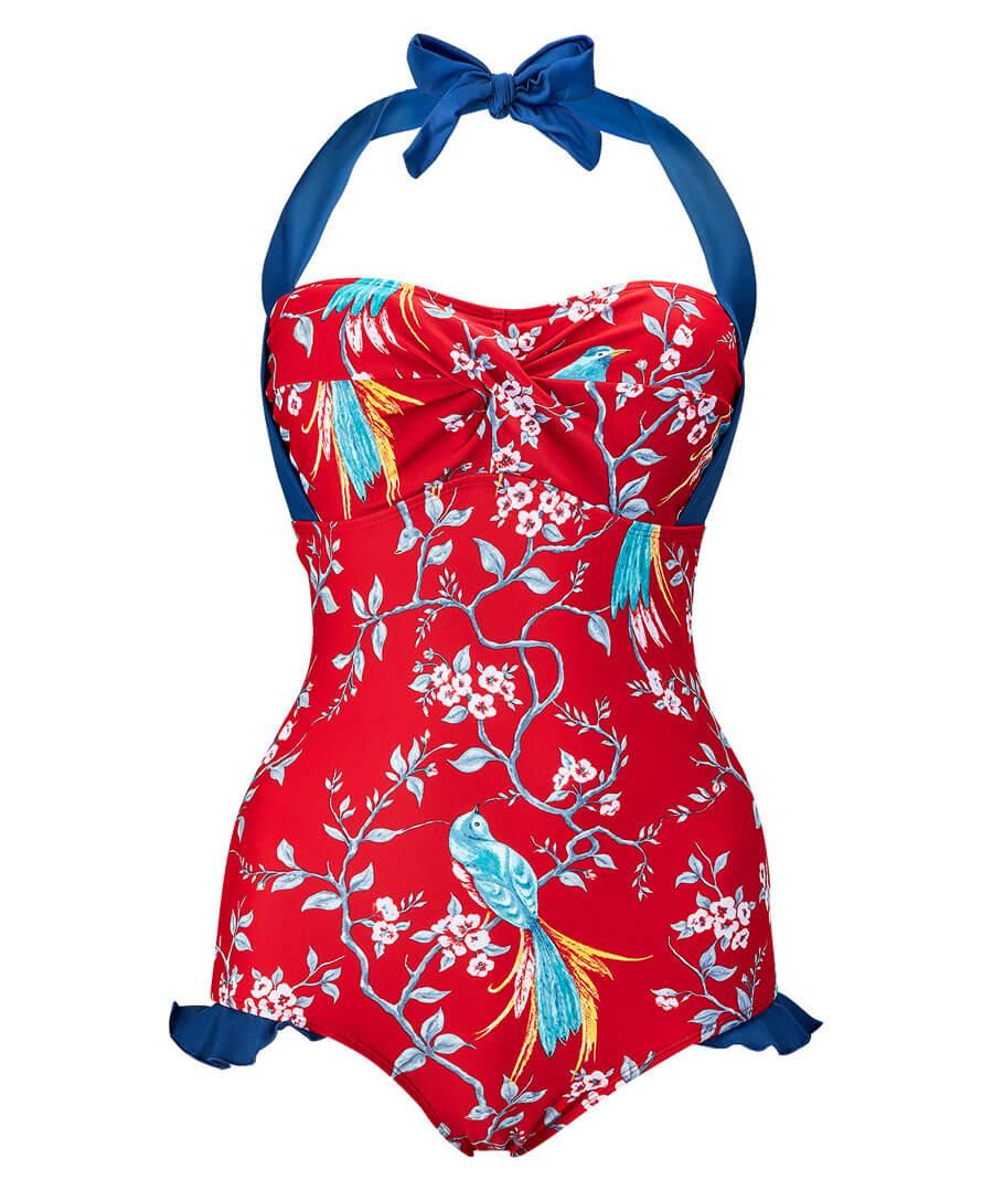 Vintage Vixen Swimsuit Model Front