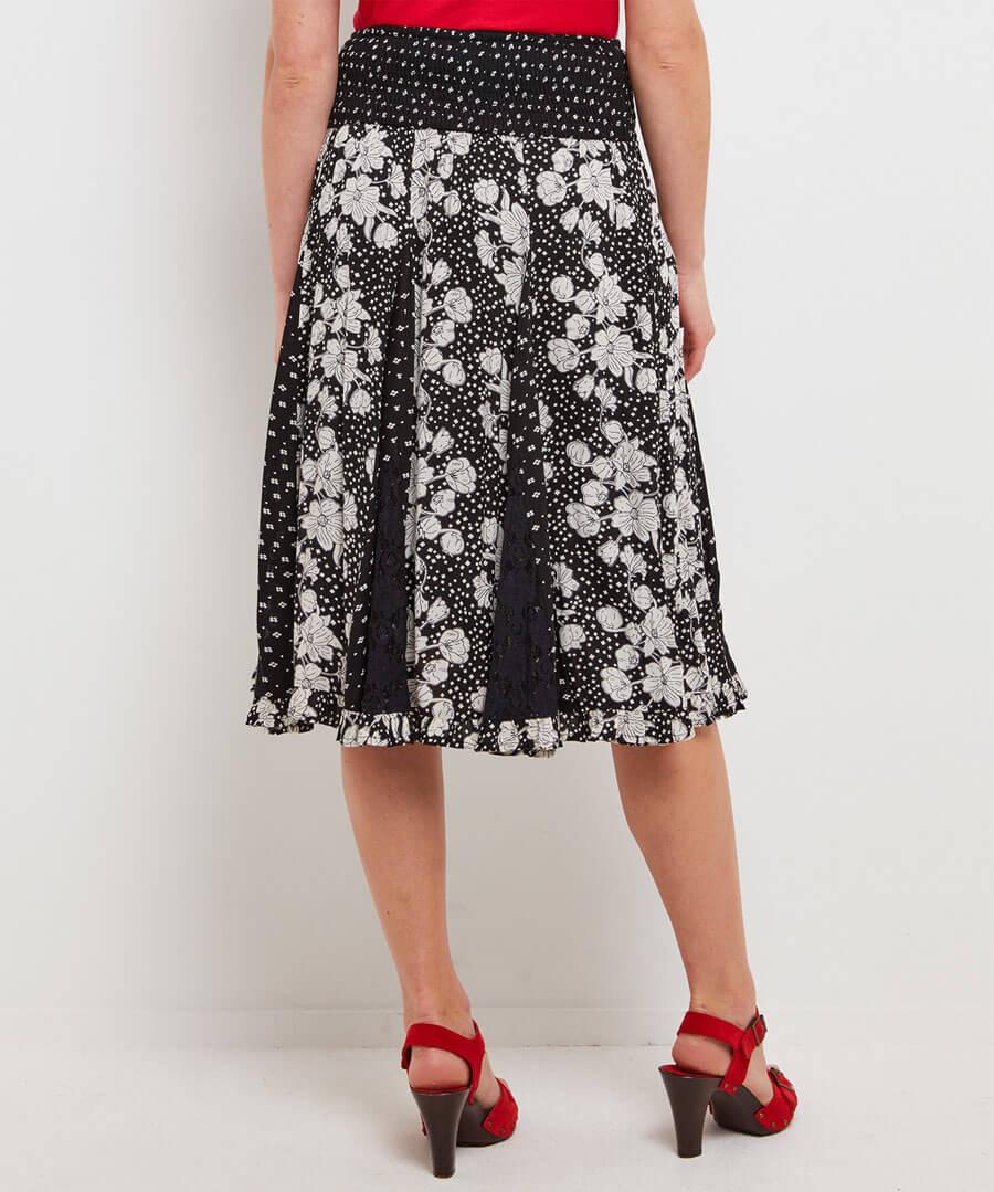Gorgeous Godet Skirt Model Back