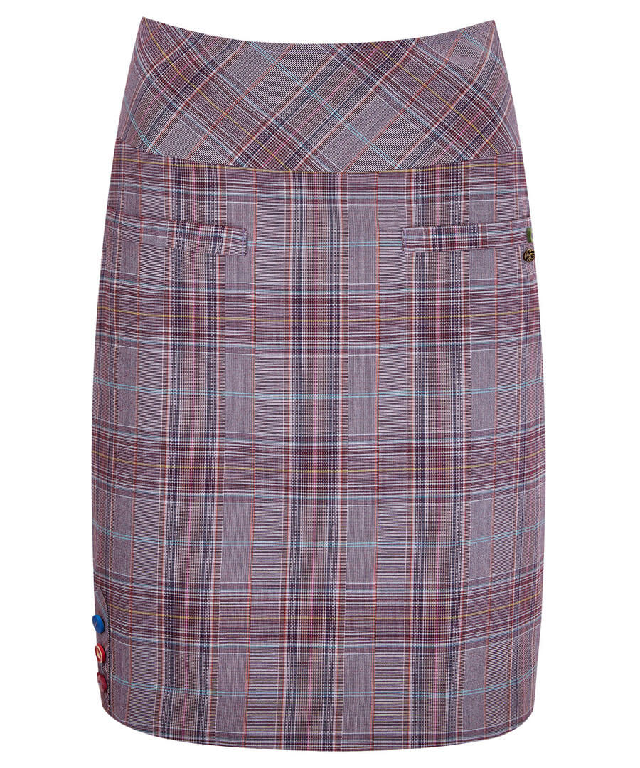 Cheeky Check Skirt Model Front