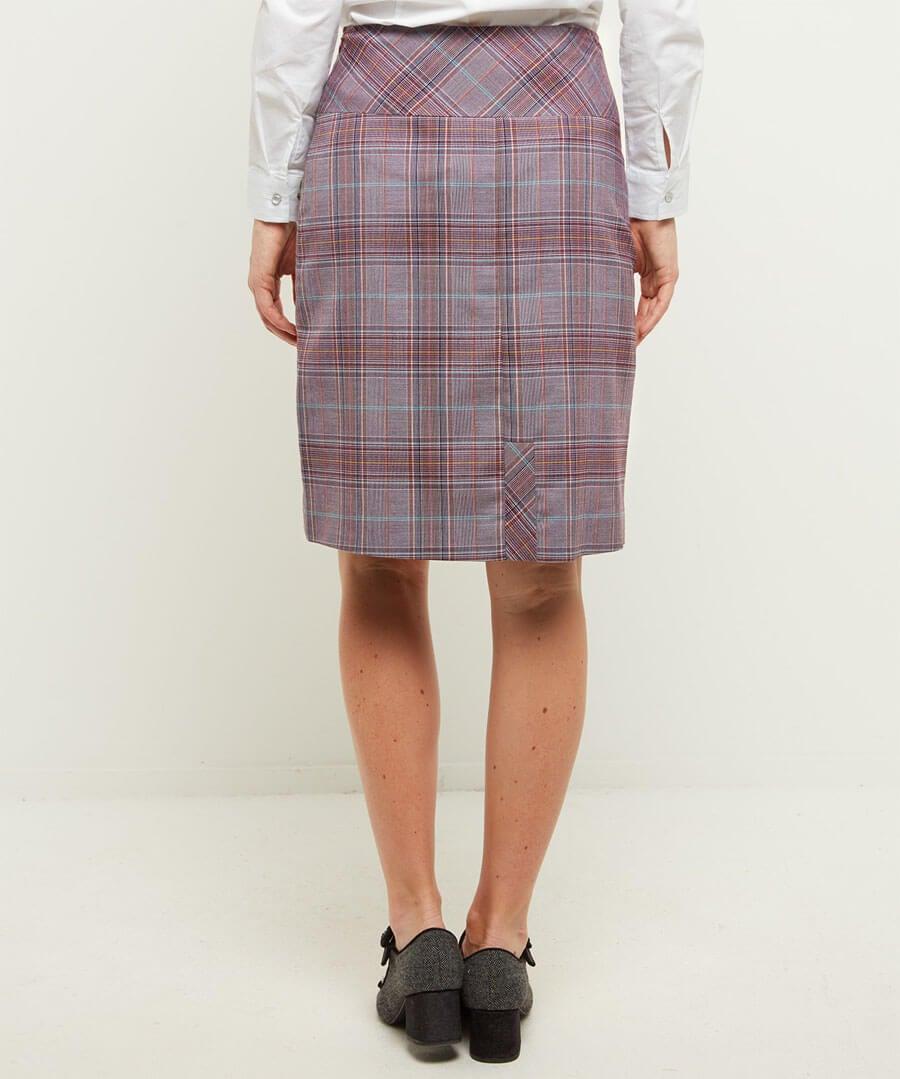 Cheeky Check Skirt Model Back