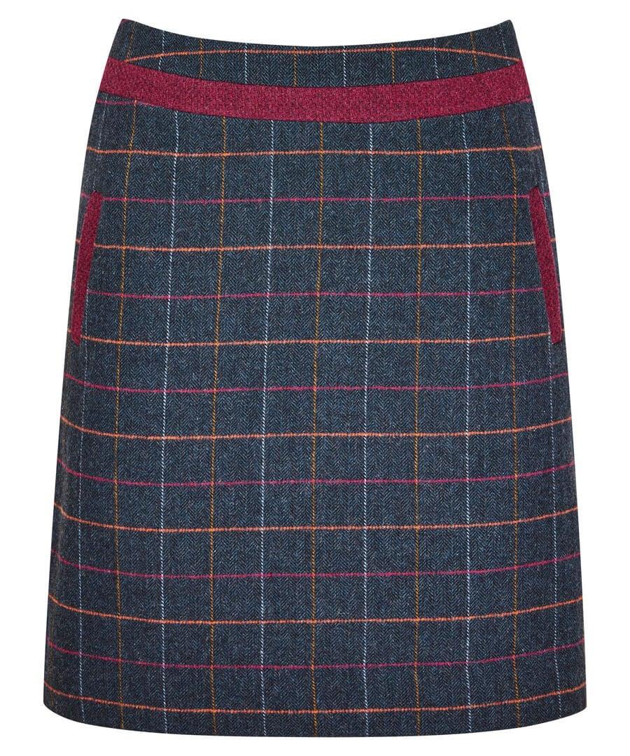 Bella Check Skirt Model Front