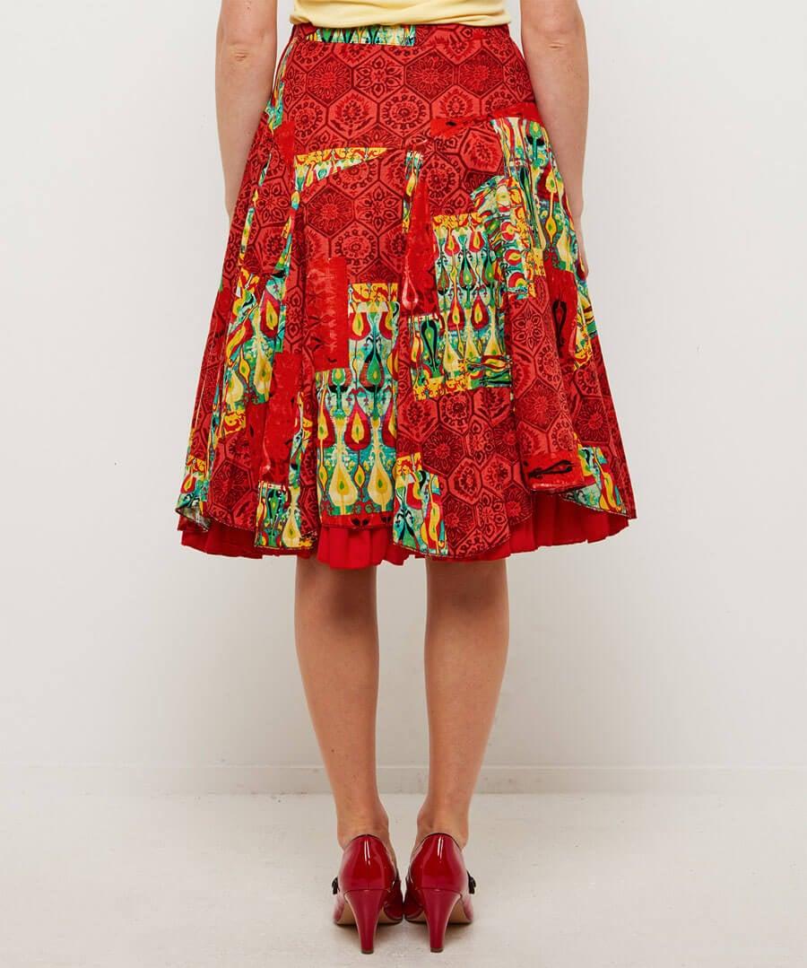 Mexicana Skirt Model Back
