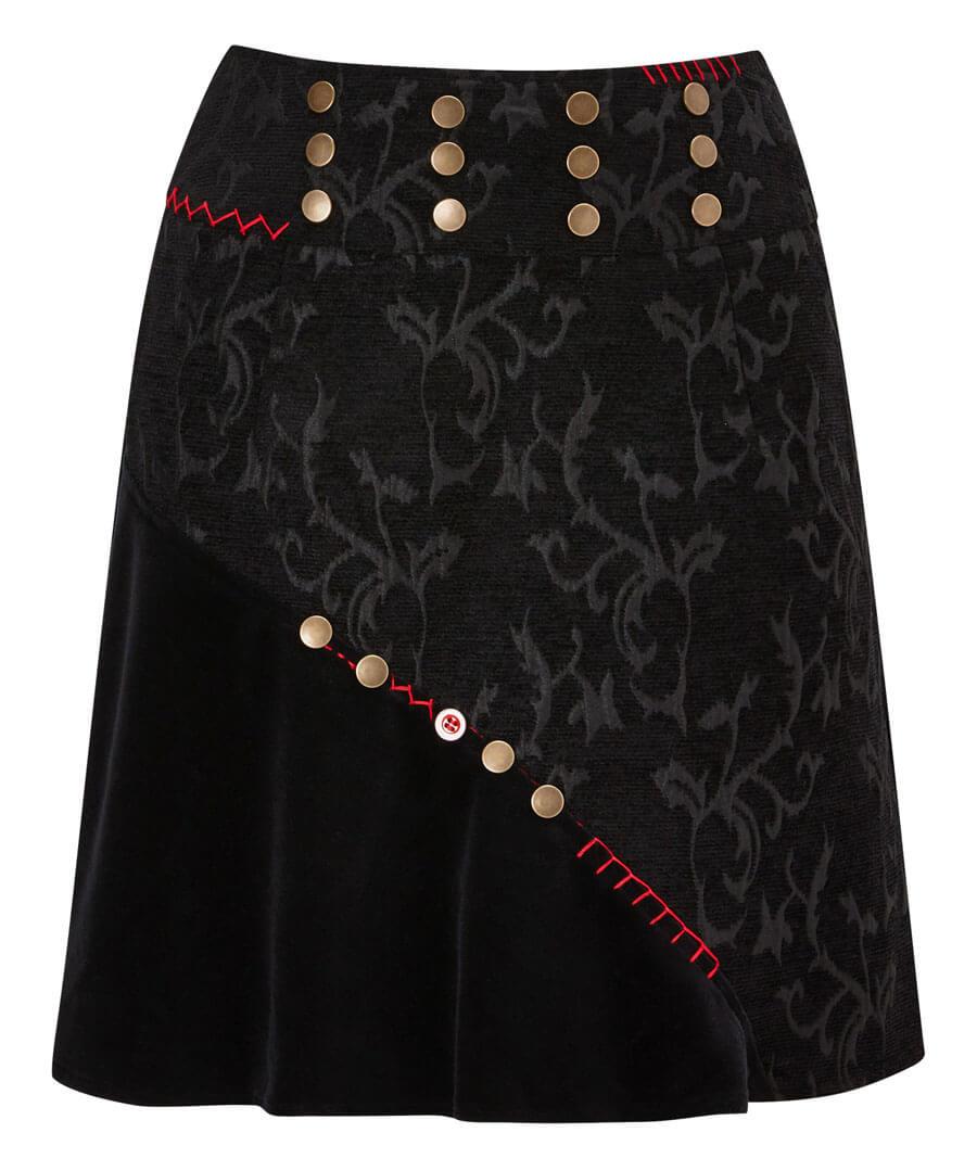 Button Jacquard Skirt Model Front