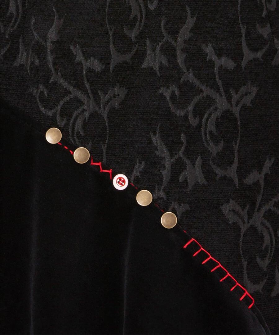 Button Jacquard Skirt Back