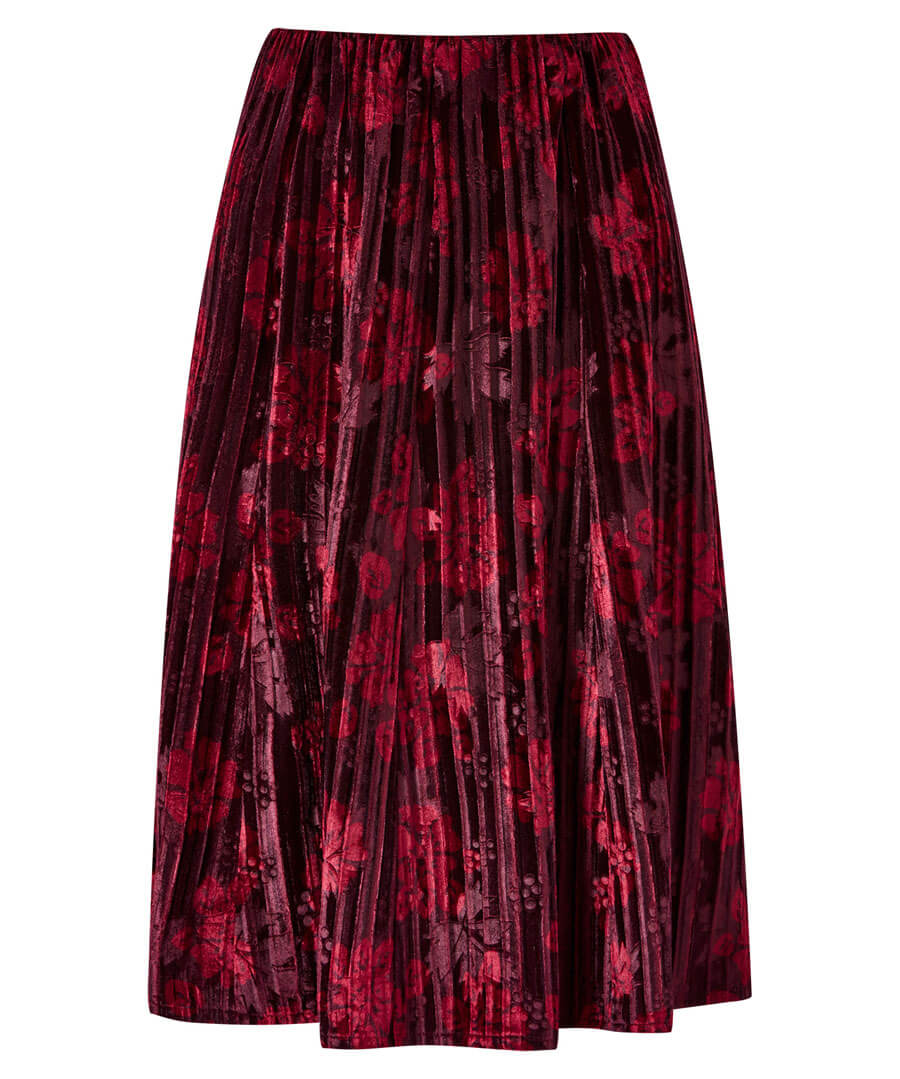 Stunning Crushed Velvet Skirt Model Front