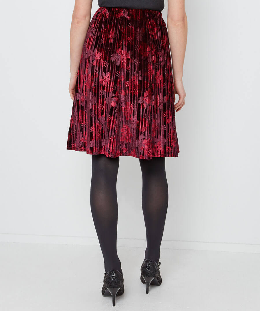 Stunning Crushed Velvet Skirt Model Back