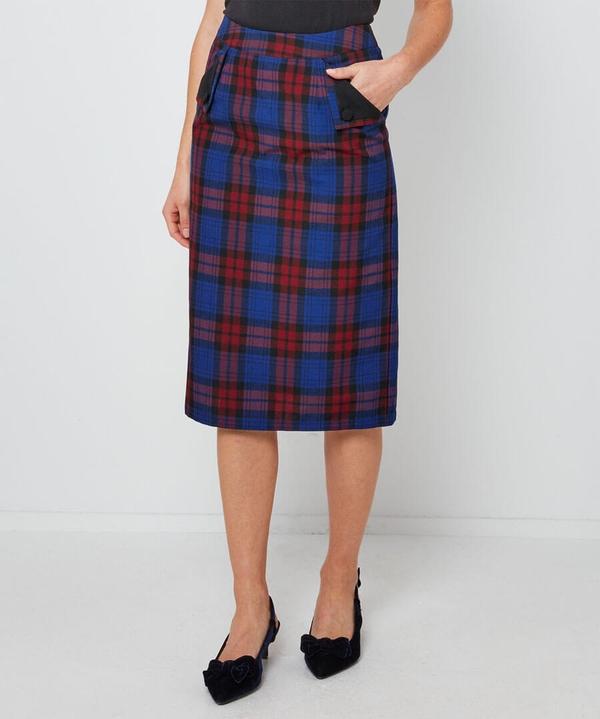 Vintage Check Pencil Skirt