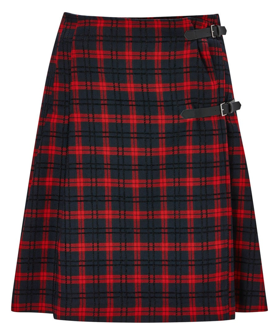 Funky Punk Check Skirt Model Front