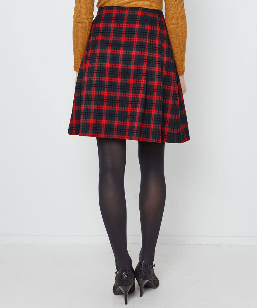 Funky Punk Check Skirt