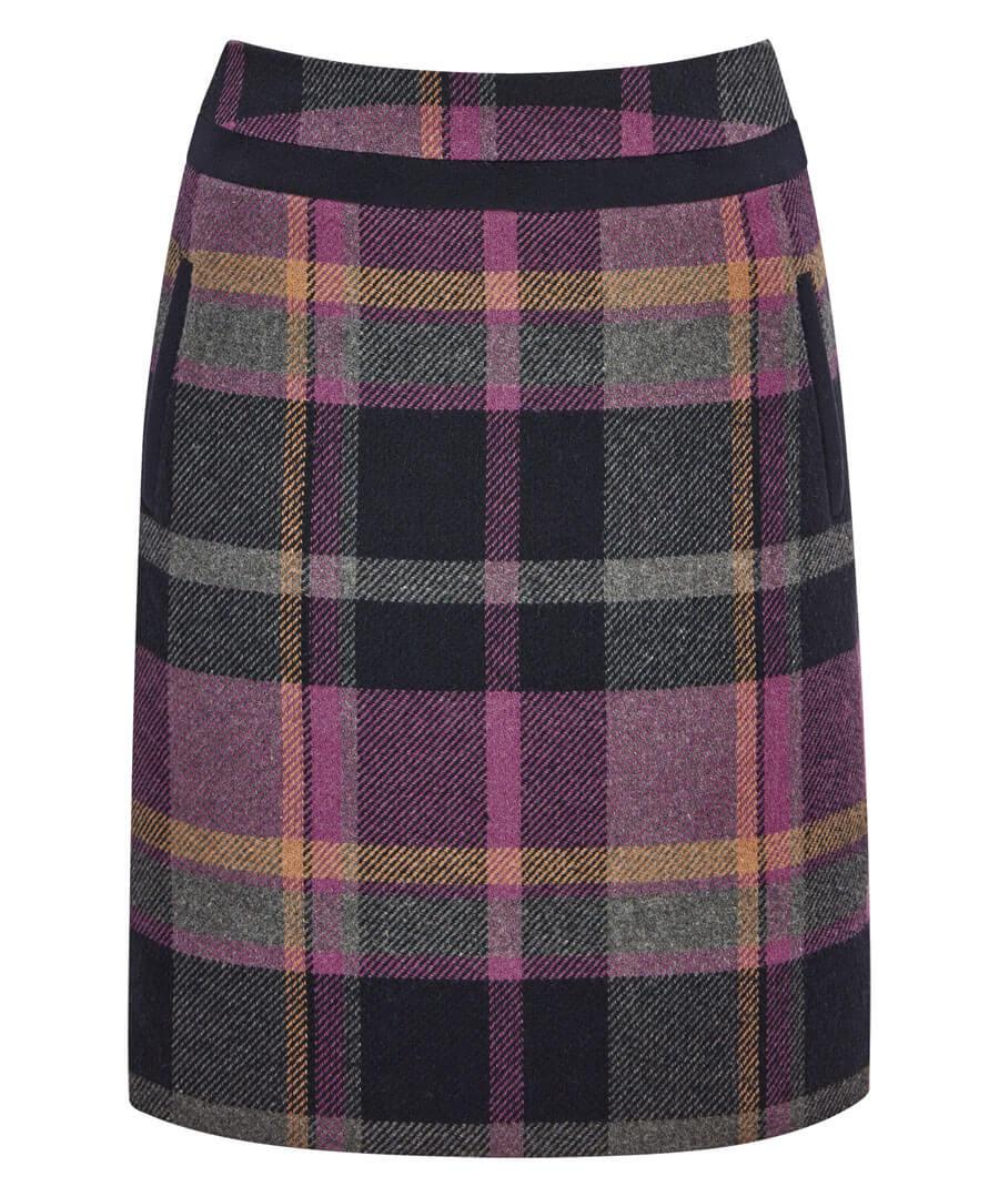 Spirited Check Skirt Model Front