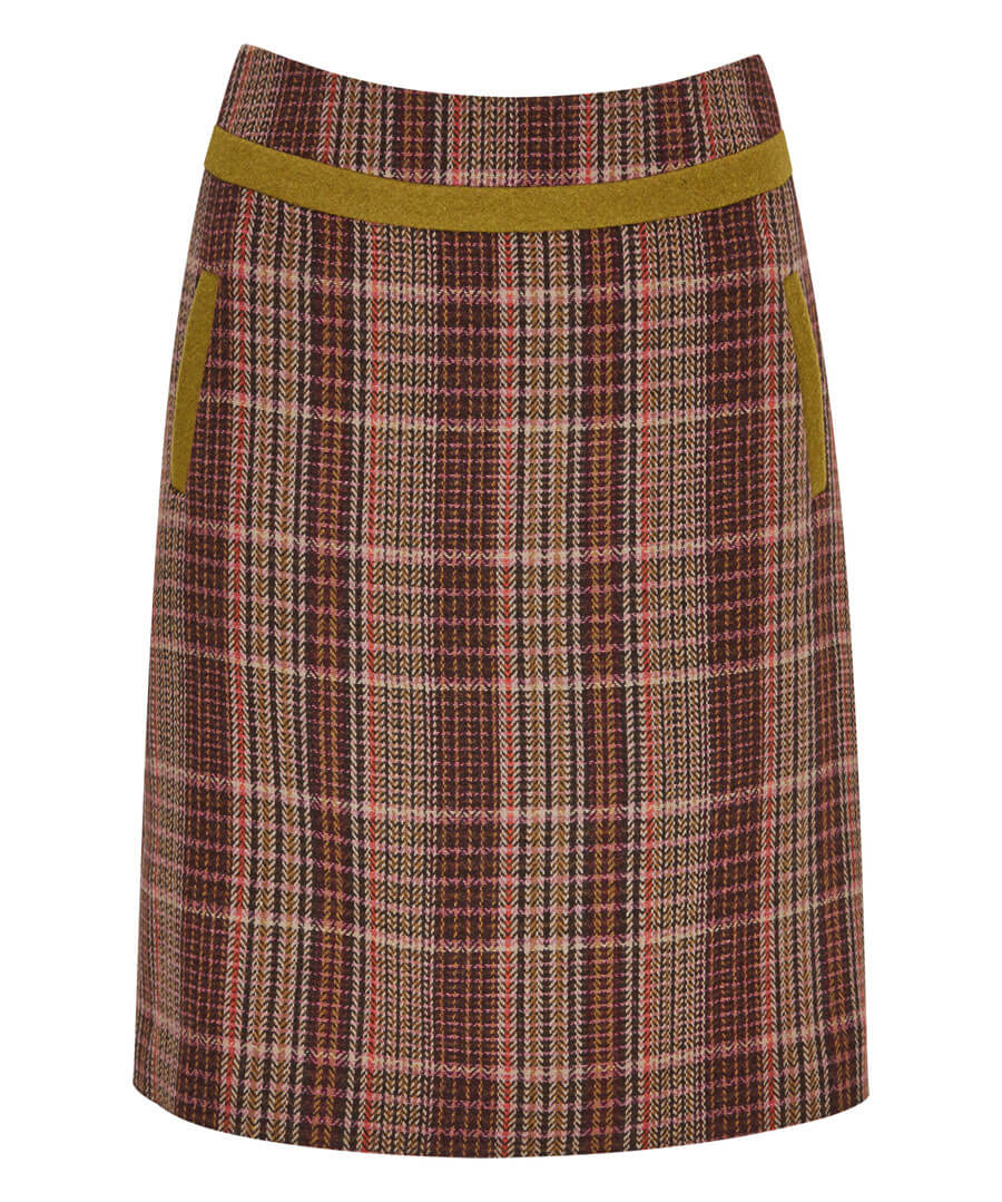 Country Check Skirt Model Front