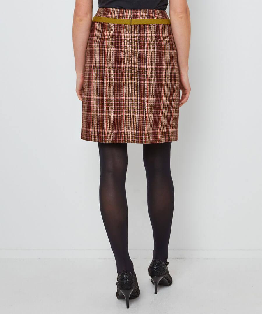 Country Check Skirt Model Back