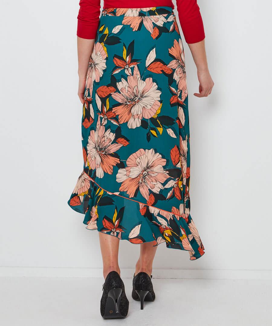 Fancy Frill Skirt Model Back