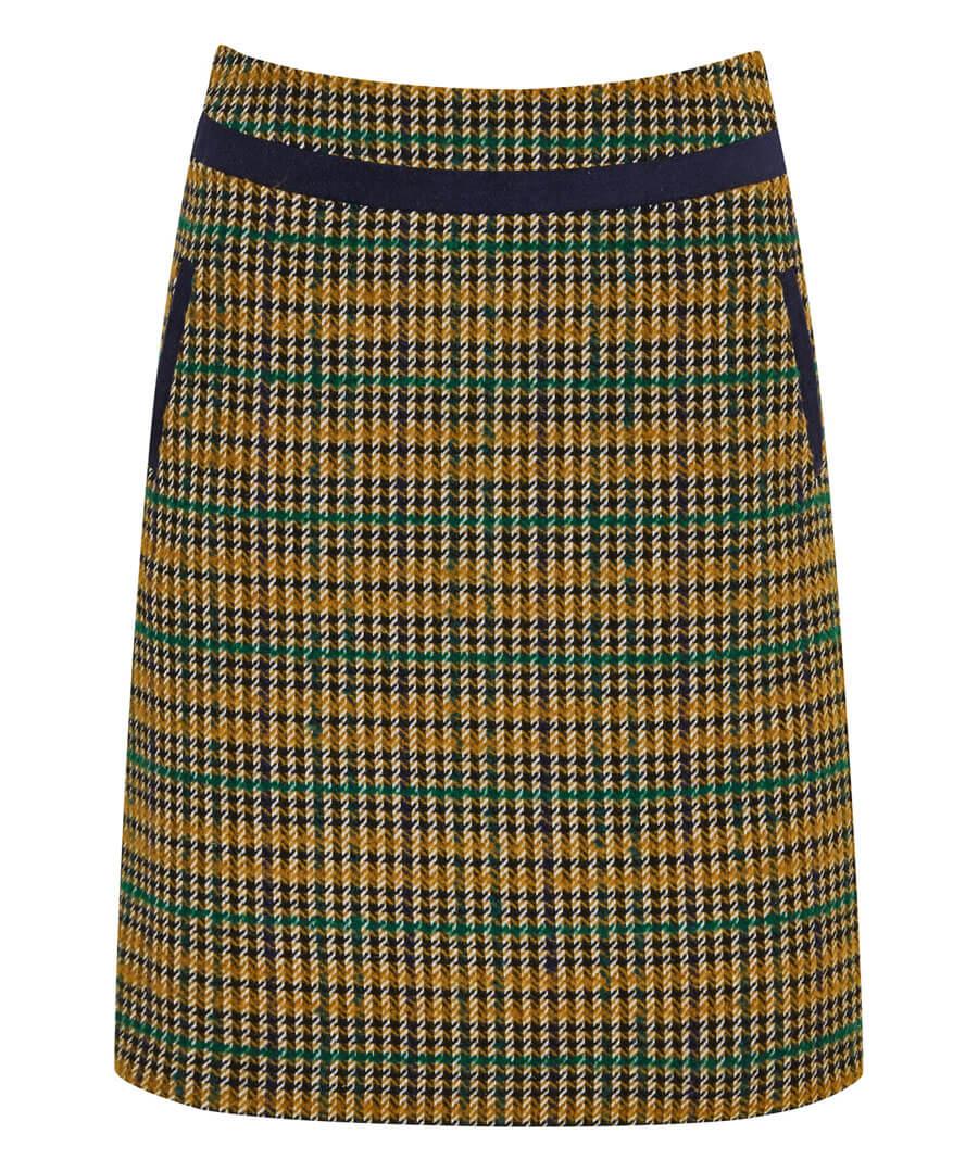 Terrific Check Skirt Model Front