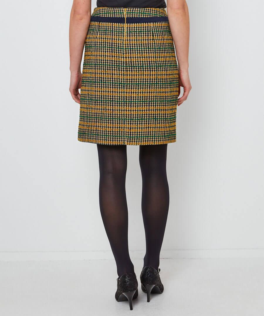 Terrific Check Skirt Model Back