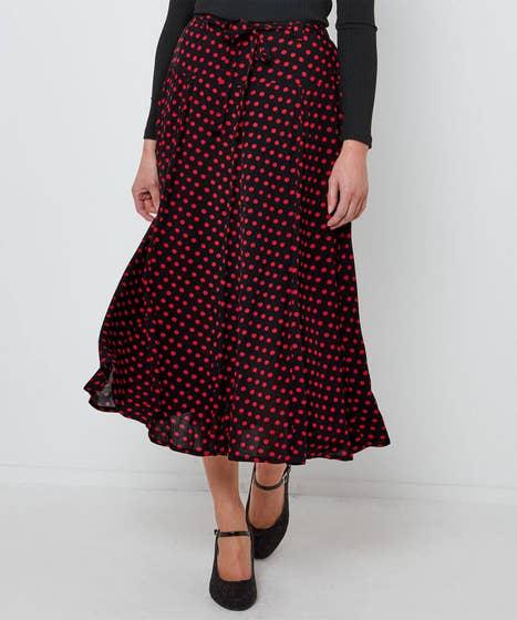 Devilish Polka Dot Skirt