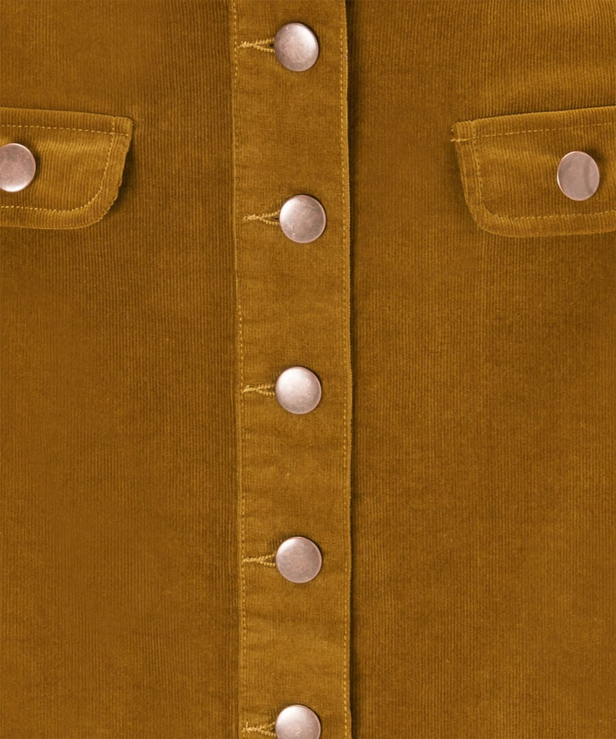 Button Through Cord Skirt Back