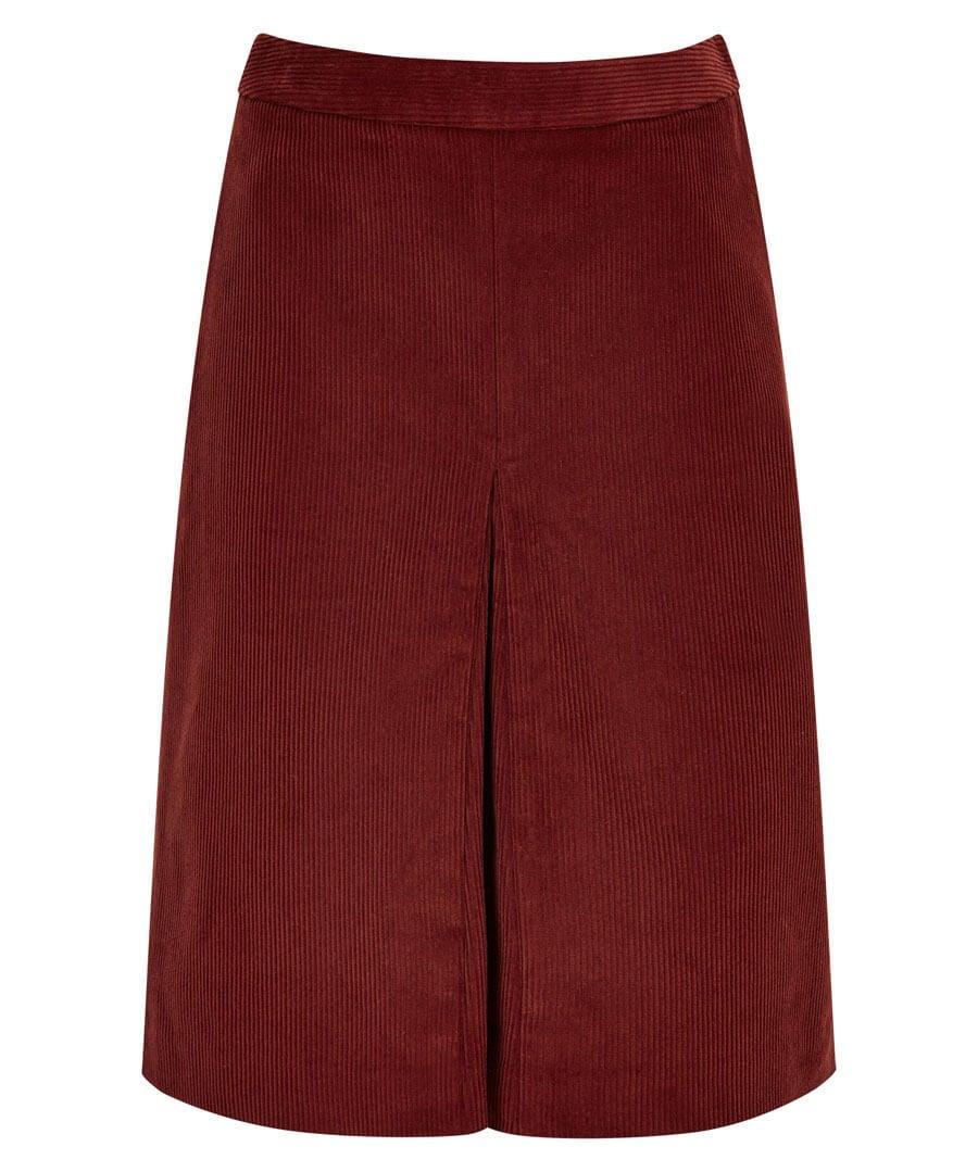 Retro Cord Skirt Model Front