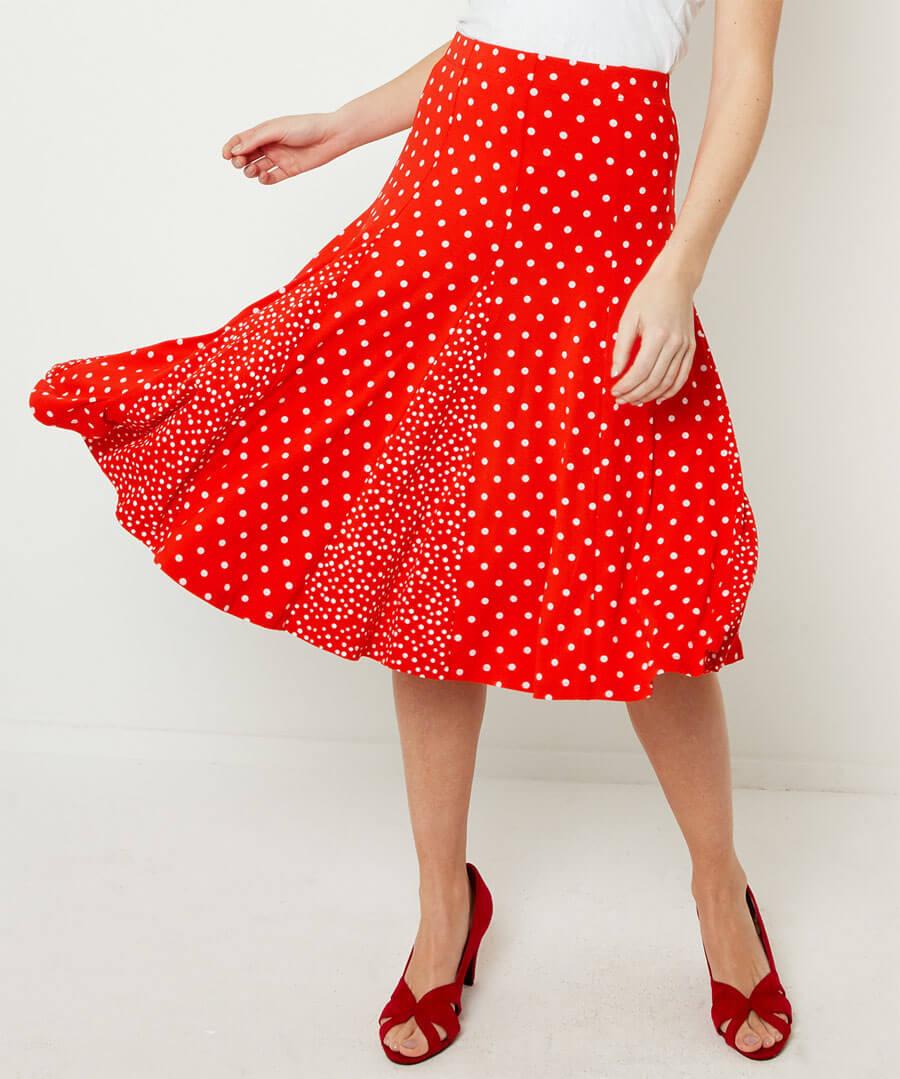 Ultimate Polka Dot Skirt Model Front