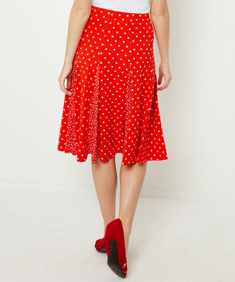 Ultimate Polka Dot Skirt Model Back