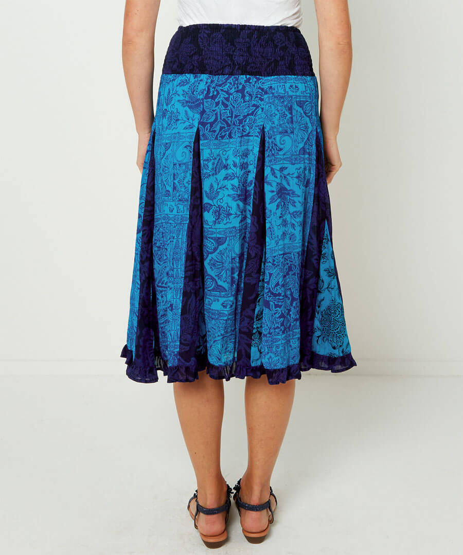 Charming Crinkle Skirt Model Back