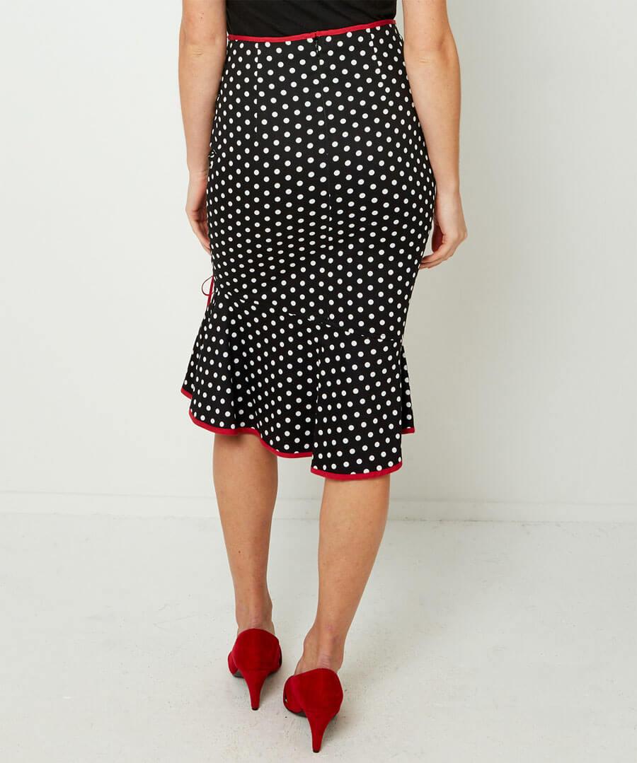 The Bop Skirt Model Back