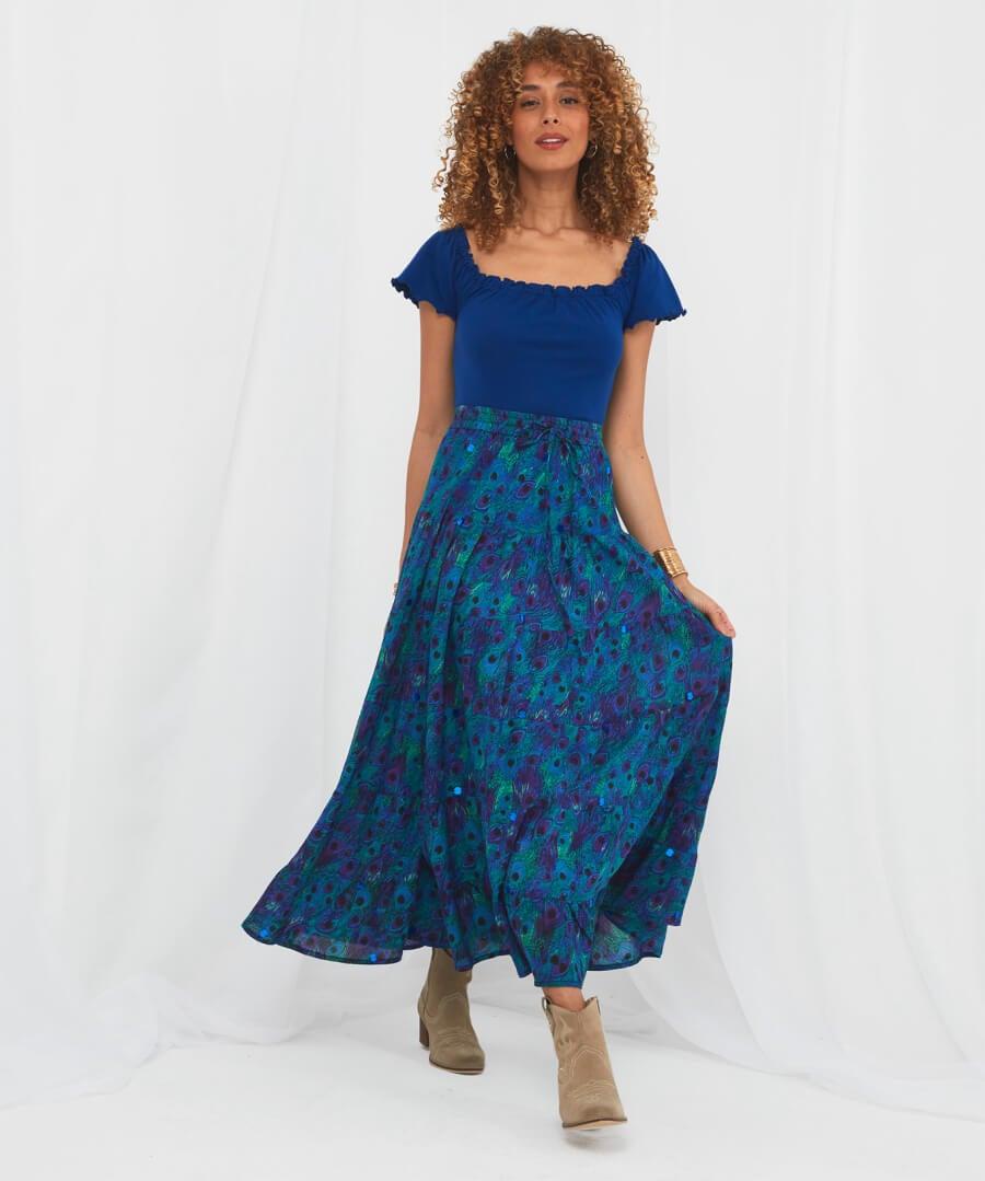 Peacock Skirt Model Front